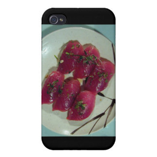 Red Tuna Sushi Plate Gifts Cards Mugs Etc Cover For iPhone 4