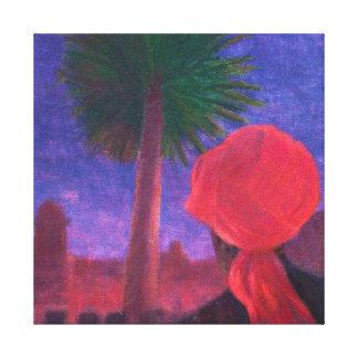 Red Turban dusk Jodhpur 2012 Canvas Print