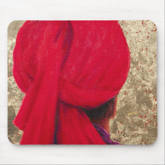 Red Turban on Gold Leaf 2014 Mouse Pad