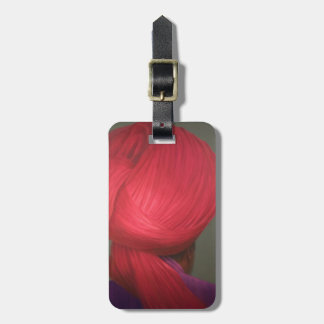 Red Turban Purple Coat Luggage Tag