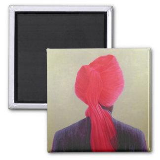 Red Turban Purple Jacket Magnet