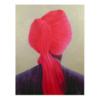 Red Turban Purple Jacket Postcard