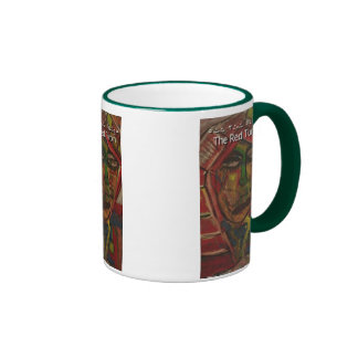 red turbin coffee mug