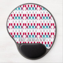 Red Turquoise Arrows Tribal Boho Feather Bohemian Gel Mouse Pad