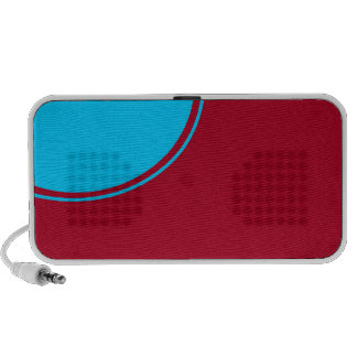 red turquoise circle mp3 speaker