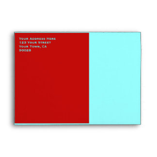 red turquoise colors envelope