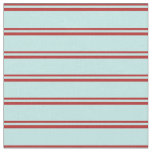 [ Thumbnail: Red & Turquoise Striped Pattern Fabric ]