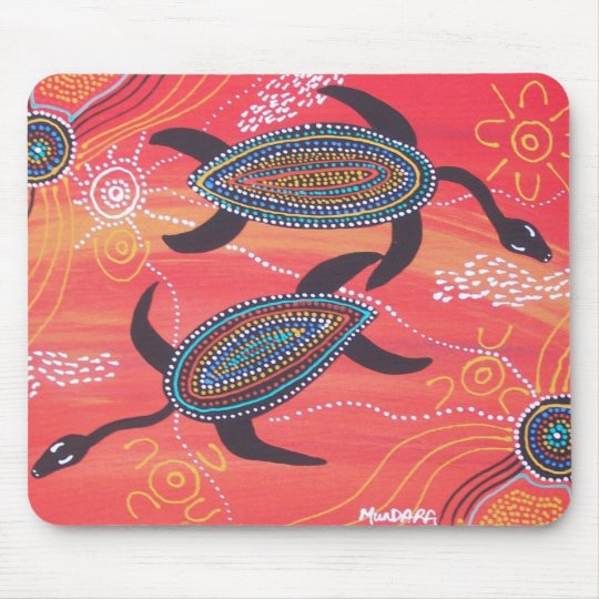 Red Turtles Mouse Pad
