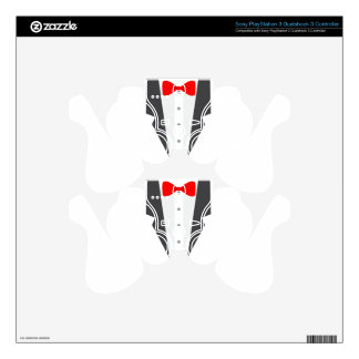 red tux tuxedo PS3 controller decals