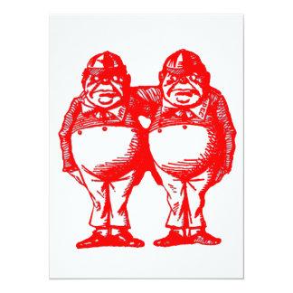 Red Tweedle Dee & Tweedle Dum Card