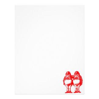 Red Tweedle Dee & Tweedle Dum Letterhead