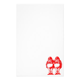 Red Tweedle Dee & Tweedle Dum Stationery