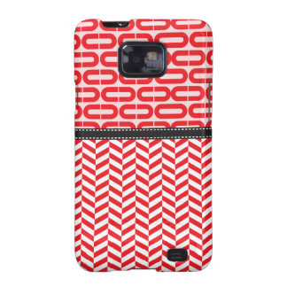 Red twill galaxy SII cover