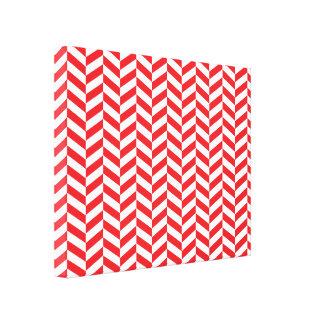 Red Twill Herringbone  print. Canvas Print
