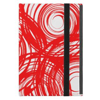 Red Twirl iPad Mini Case with Kickstand