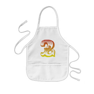 Red Two Kids' Apron