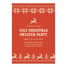 Ugly Sweater Party Invitations Pretty Pattern Gifts