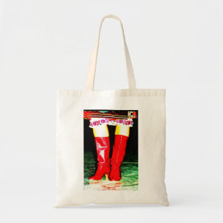 Red Ukrainian Boots Tote Bag