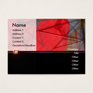 Red Umbrella 1 Abstract Profile Card