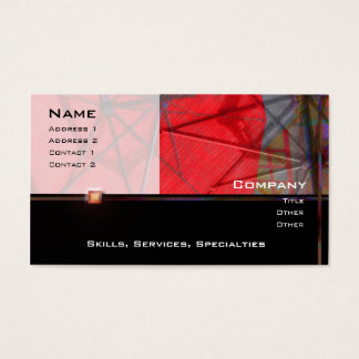 Red Umbrella Abstract 1 Profile Card