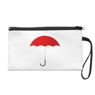 Red Umbrella Wristlet Purse