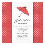 Red Umbrella Bridal Shower Invitation