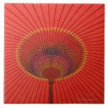 Red umbrella ceramic tiles