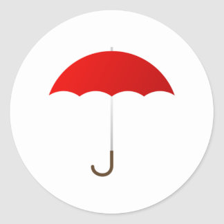 Red Umbrella Classic Round Sticker