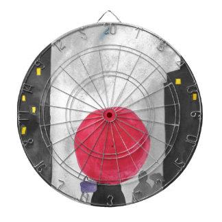 Red Umbrella Dartboard With Darts