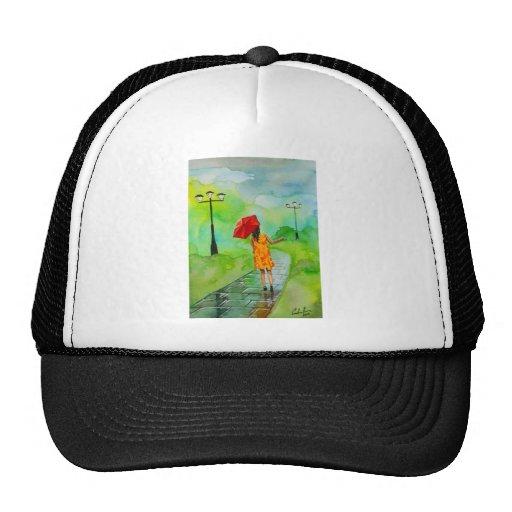 RED UMBRELLA MESH HAT