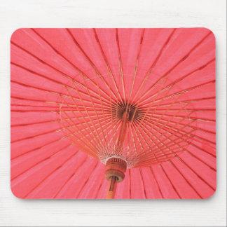 Red umbrella mouse pad