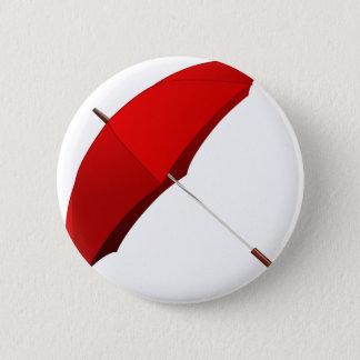 Red Umbrella Pinback Button