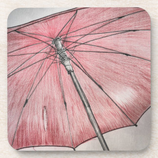 Red Umbrella Sketch Coaster