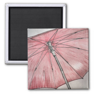 Red Umbrella Sketch Magnet