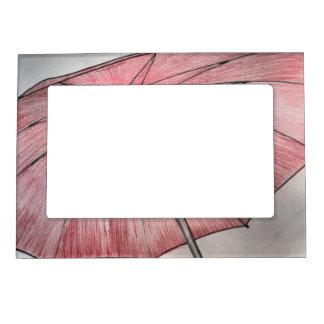 Red Umbrella Sketch Magnetic Frame