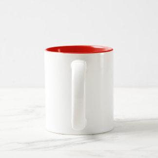 red umbrellas Two-Tone coffee mug