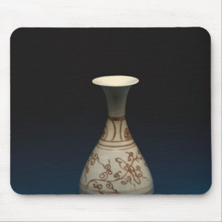 Red underglaze bottle by Yuhachan Mouse Pad