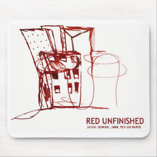 RED UNFINISHED MOUSE MAT
