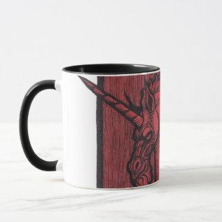 Red Unicorn 15oz Ringer Mug