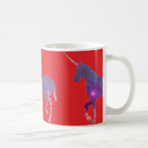 Red Unicorn Coffee Mug
