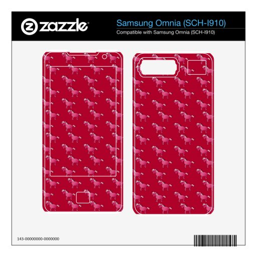 Red unicorn pattern decal for samsung omnia