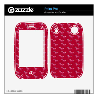 Red unicorn pattern skins for the palm pre