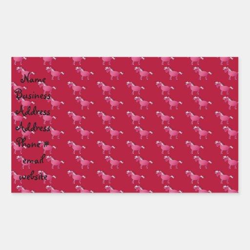 Red unicorn pattern sticker