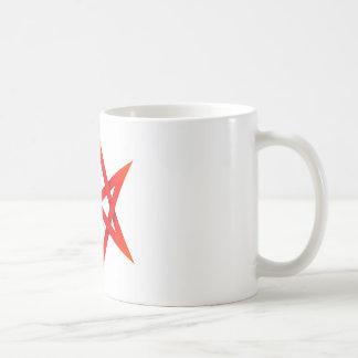 Red Unicursal Hexagram 3D Coffee Mug