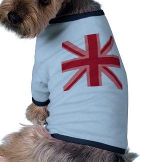 Red Union Jack Doggie T Shirt