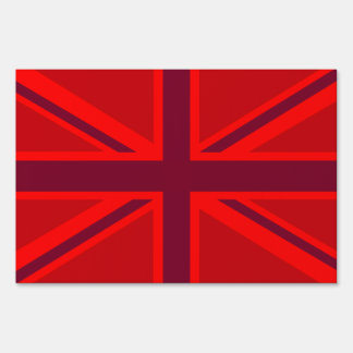 Red Union Jack Lawn Sign