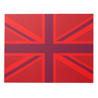 Red Union Jack Notepad