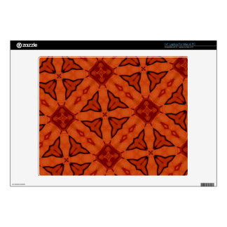 "Red unique abstract pattern 14"" laptop decal"