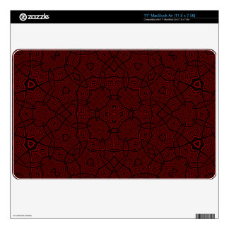 Red unique Abstract Pattern Decals For MacBook Air