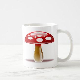 Red Unique Mushroom Coffee Mug